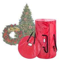 Deluxe Christmas Tree Storage Bag and Canvas Wreath Bag