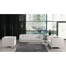 Alsatia Modern Tufted Eco-Leather Living Room Set