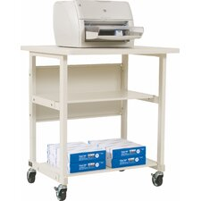 Mobile Printer Stand with 2 Shelves