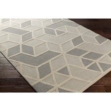 Vaughan Hand-Tufted Rectangle Gray Wool Area Rug