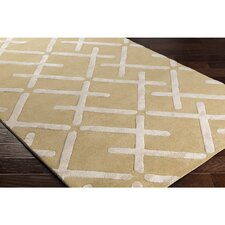 Vazquez Hand-Tufted Rectangle Brown/Neutral Area Rug
