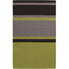 Marion Lime Striped Area Rug
