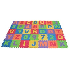 35 Piece Tile Letters and Number Mat Set