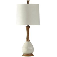 "Waverly Faux Wood 34"" Table Lamp"
