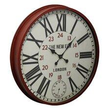"31.4"" Red Metal Wall Clock"