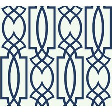 "Coalville Lattice 27' x 27"" Geometric Wallpaper"