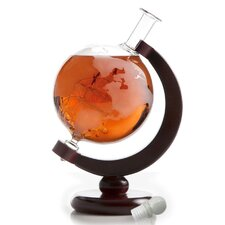 Large Etched World 84 Oz. Globe Decanter