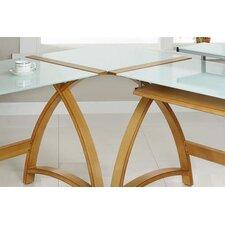 Curve Corner Desk Connector in White Glass