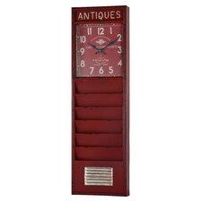 Retangle Red Wall Clock