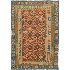 Sivas Hand-Woven Red Area Rug