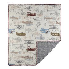 Aeroplanes 4 Piece Crib Bedding Set