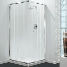GB 76cm x 76cm x 180cm Square Sliding Shower Enclosure