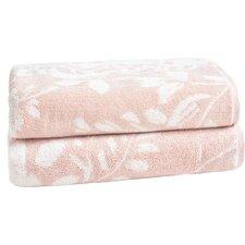 Floral Block Bath Towel