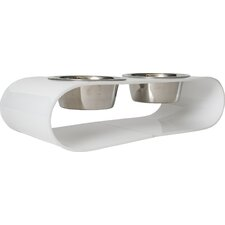 Acrylic Curved Double Bowl Diner
