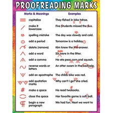 Proofreading Marks Chart (Set of 3)