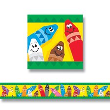 Bolder Colorful Crayons Border (Set of 2)