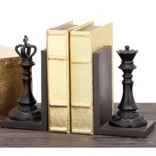 Decorative Chess King and Queen Book Ends (Set of 2)