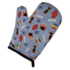 Dog House English Toy Terrier Oven Mitt