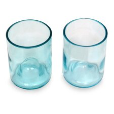 Hand-Crafted Recycled 9 Oz. Water Glass (Set of 2)