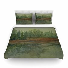 Reflections Watercolor by Cyndi Steen Featherweight Duvet Cover