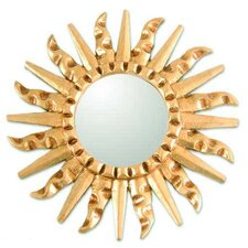 Mohena Wood Modern Carved Wall Mirror
