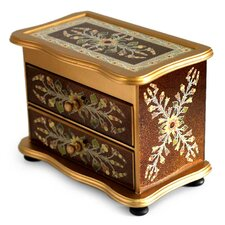 Unique Reverse Painted Glass Jewelry Box