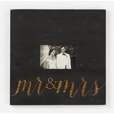 Mr. and Mrs. Wood Picture Frame
