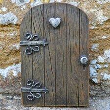 Decorative Heart Kingdom Love Fairy Pixie Elf Woodwork Garden Door Statue