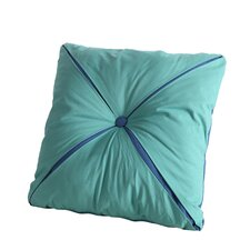 Square Reversible Button Accent Throw Pillow