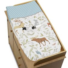 Woodland Toile Changing Pad Cover