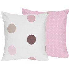 Mod Dots Cotton Throw Pillow