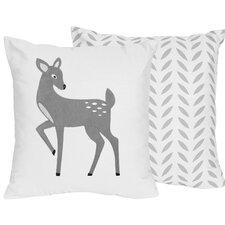 Forest Deer Throw Pillow