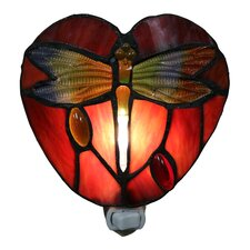 Filipa 1-Light Dragonfly Plug-in Wall Sconce with Bulb