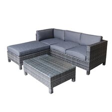 Scarlet 3 Piece Sectional Sofa Set with Cushions