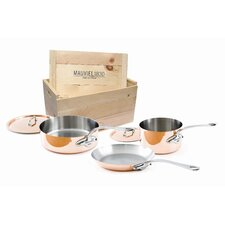 M'Heritage Copperl 5-Piece Cookware Set with Crate