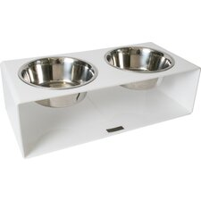 Acrylic Square Diner Double Bowl