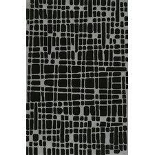 Journey Hand-Tufted Black Area Rug