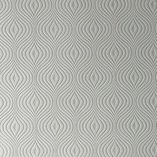 "Paintable Curvy 33' x 20"" Geometric 3D Embossed Wallpaper Roll"