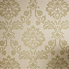 Aurora Regal 33' x 20'' Damask 3D Embossed Wallpaper Roll