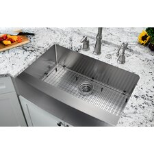 """35.875"""" x 20.75"""" Single Bowl Farmhouse/Apron Kitchen Sink"""
