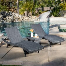Stowell 3 Piece Chaise Lounge Set