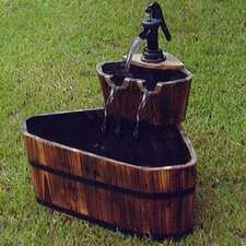 Wood Tiered Fountain