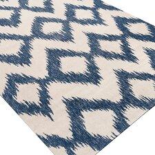 Faith Mediterranean Blue/Cream Ikat Area Rug