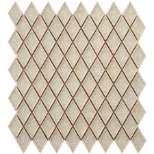 """Interval 1"""" x 2"""" Ceramic Mosaic Wall Tile in Diamond Ice Beige"""