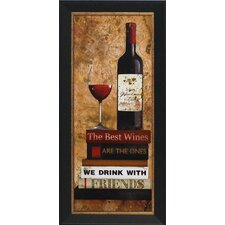 'Best Red Wine' by Carol Robinson Framed Graphic Art