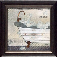 'Relax Texture Coated Bathroom' by Marla Rae Framed Graphic Art