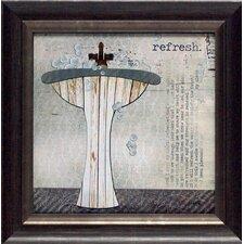 'Refresh Texture Coated Bathroom' by Marla Rae Framed Graphic Art