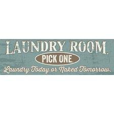'Laundry Room' by Tonya Gunn Textual Art on Plaque