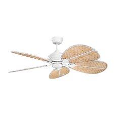 "22"" Natural Outdoor Ceiling Fan Blade Set (Set of 5)"