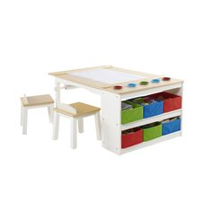 Intermediate Kids 10 Piece Arts & Crafts Table and Chair Set